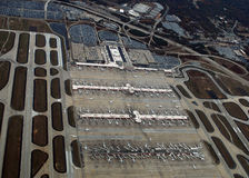 Aerial view Hartsfield–Jackson Atlanta Internati Stock Photos