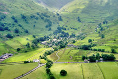 Aerial View of Hartsop Village Royalty Free Stock Images