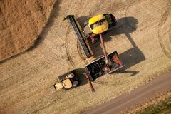 Aerial View of Harvest Royalty Free Stock Image