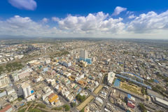 Aerial view Hat Yai Thailand. High angle view of Hat Yai city. Songkhla, Thailand. Daytime with very clear sky and nice cloud Royalty Free Stock Photo