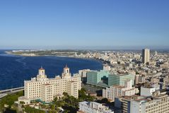 Aerial view of the Havana city in Havana, Cuba. Royalty Free Stock Image