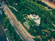 Aerial view of havas prague stock photography