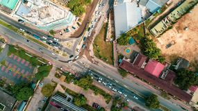 Aerial view of the city of Dar es Salaam. Aerial view of the haven of peace, city of Dar es Salaam stock photos