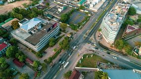Aerial view of the city of Dar es Salaam. Aerial view of the haven of peace, city of Dar es Salaam royalty free stock image