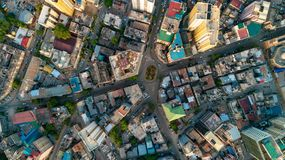 Aerial view of the city of Dar es Salaam. Aerial view of the haven of peace, city of Dar es Salaam stock photo