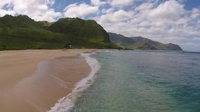 Aerial View: Hawaii Beach stock video footage