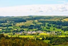 Aerial view of Hawkshead village Royalty Free Stock Photo