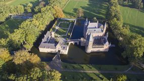 Aerial view on the Heeswijk Castle royalty free stock image