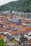 Aerial view of Heidelberg city, Germany Royalty Free Stock Images