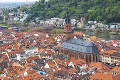 Aerial view of Heidelberg city, Germany Stock Photos