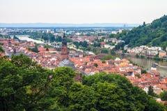 Aerial view of Heidelberg Royalty Free Stock Image