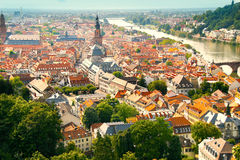 aerial View of Heidelberg Royalty Free Stock Images
