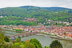 Aerial view of Heidelberg old town, Germany Royalty Free Stock Photos