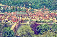 Aerial view of Heidelberg old town, Germany Royalty Free Stock Photography