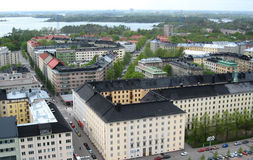 Aerial view of Helsinki. Capital of Finland royalty free stock photos