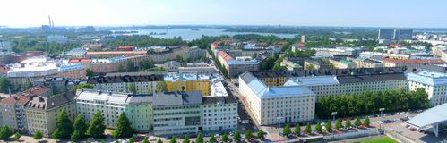 Aerial view of Helsinki Royalty Free Stock Image