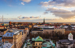 Aerial view of Helsinki Royalty Free Stock Photography
