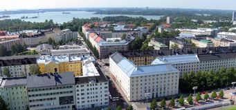 Aerial view of Helsinki. Capital of Finland stock photography