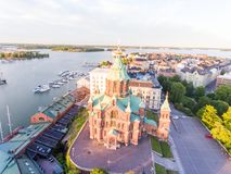 Aerial view of Helsinki, Finland.  royalty free stock images