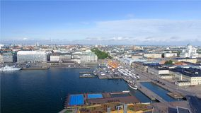 Aerial view of Helsinki skyline.  stock images