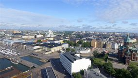 Aerial view of Helsinki skyline.  royalty free stock images