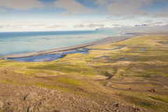 Aerial view on Heradssandur coast - Iceland. Royalty Free Stock Photos