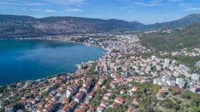 Aerial view of Herceg Novi royalty free stock photo