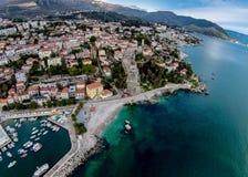 Aerial view of Herceg Novi Town in Montenegro. Stock Photo