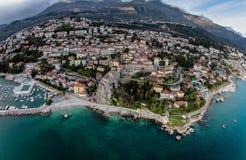 Aerial view of Herceg Novi Town in Montenegro Stock Photo