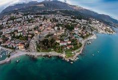 Aerial view of Herceg Novi Town in Montenegro Royalty Free Stock Images