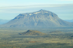 Aerial view of Herdubreid mountain Stock Photos
