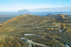 Aerial view of Herdubreid mountain Royalty Free Stock Photos
