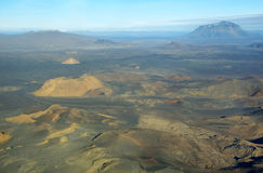 Aerial view of Herdubreid mountain Royalty Free Stock Images