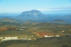 Aerial view of Herdubreid mountain Royalty Free Stock Photo