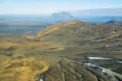 Aerial view of Herdubreid mountain Stock Image