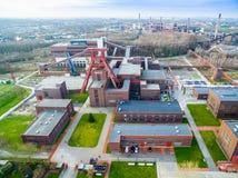 Aerial view of the heritage coal mine Zollverein Stock Photo