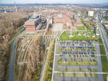 Aerial view of the heritage coal mine Zollverein Royalty Free Stock Image