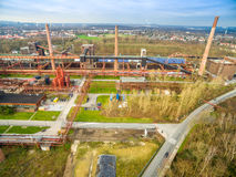 Aerial view of the heritage coal mine Zollverein Royalty Free Stock Photography