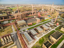 Aerial view of the heritage coal mine Zollverein Royalty Free Stock Images