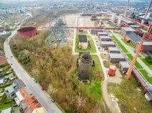 Aerial view of the heritage coal mine Zollverein Stock Photos