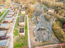 Aerial view of the heritage coal mine Zollverein Royalty Free Stock Photo