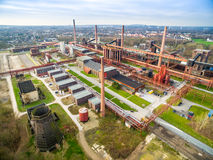 Aerial view of the heritage coal mine Zollverein Stock Photo