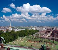 Aerial view of hermitage, Sankt-Petersburg Royalty Free Stock Photos