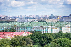 Aerial view of the Hermitage, St Petersburg, Russia Stock Image