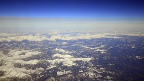 Aerial view of high altitude mountains. stock video footage