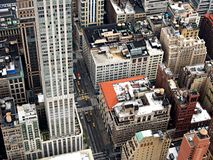 Aerial View of High Rise Buildings Royalty Free Stock Photo
