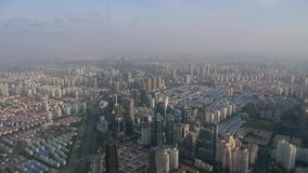 Aerial view of high-rise buildings in Shanghai,China,time lapse. stock video