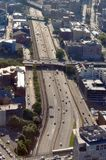 Aerial view of Highway, Boston Royalty Free Stock Photos