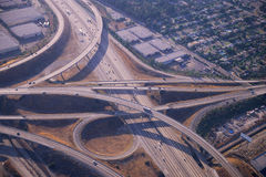 Aerial view of highway Royalty Free Stock Image