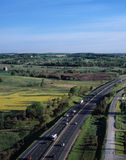 Aerial view of highway Stock Photography